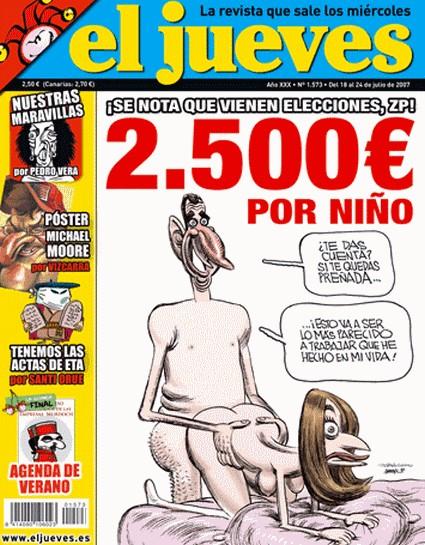 Polémica portada de 'El Jueves' con el príncipe Felipe y doña
